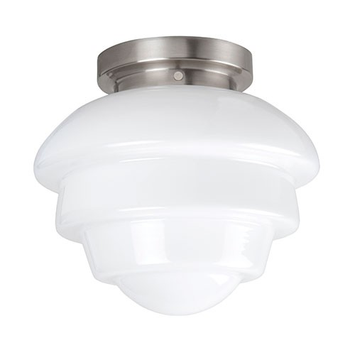 Keuken Plafondlamp : Plafondlamp nikkel wit glas, keuken-hal Straluma