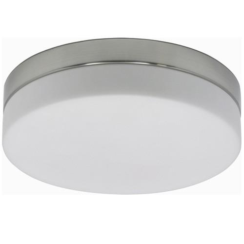 Badkamer plafondlamp staal met wit glas  Straluma