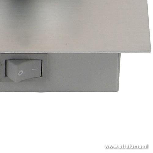 Wandlamp aluminium bol met schakelaar  Straluma