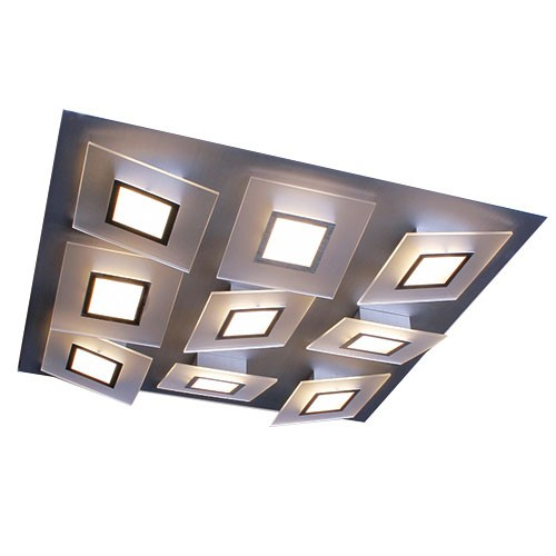 Plafondlamp square led design straluma for Design plafondlamp
