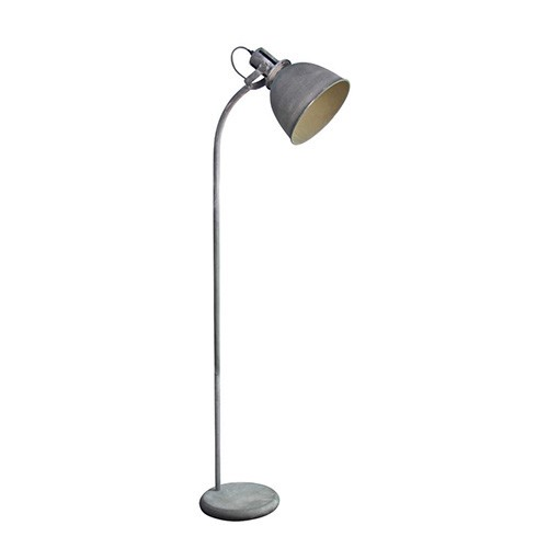 Industriele vloerlamp leeslamp betonlook straluma for Industriele staande lamp