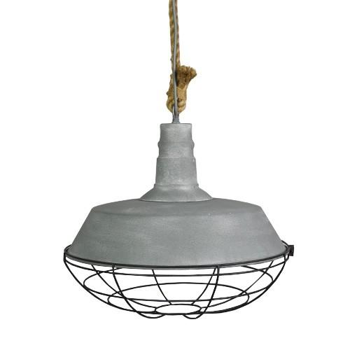 Industriu00eble hanglamp beton touw keuken : Straluma