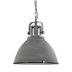 Industriele hanglamp betonlook eettafel