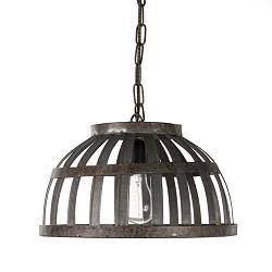 *Landelijke hanglamp oud metaal keuken