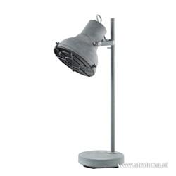 Industriele leeslamp-tafellamp betonlook