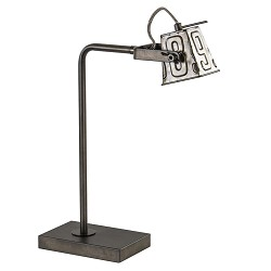 Stoere industriele tafel/bureaulamp black steel