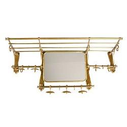 ** Klassieke Wandkapstok brons spiegel