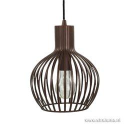 Draad hanglamp brons/bruin woonkamer