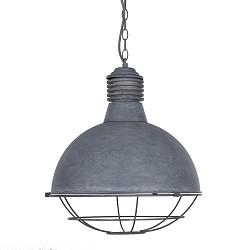Industriële betonlook hanglamp rooster