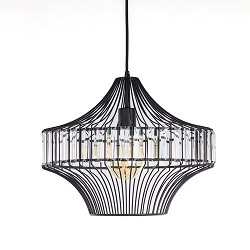 Moderne draad hanglamp zwart keuken