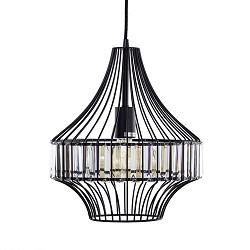 Strak klassieke hanglamp met kristallen