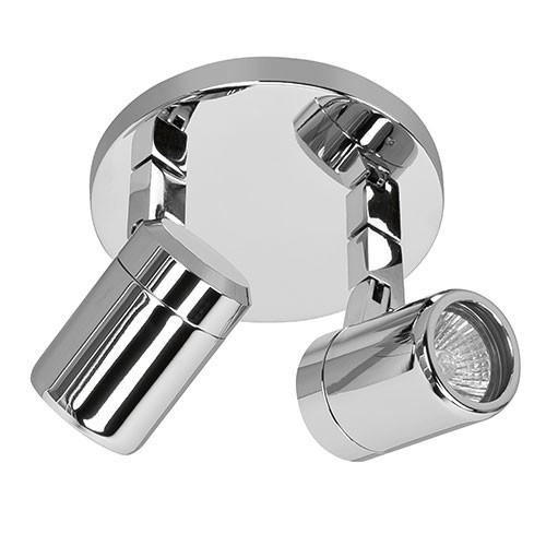 badkamer spot rain ip44 2 lichts chroom straluma. Black Bedroom Furniture Sets. Home Design Ideas