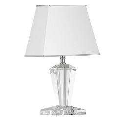 Tafellamp Crystal Pyramid glazen voet