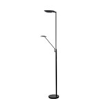 Zwarte vloerlamp-uplighter-leeslamp LED