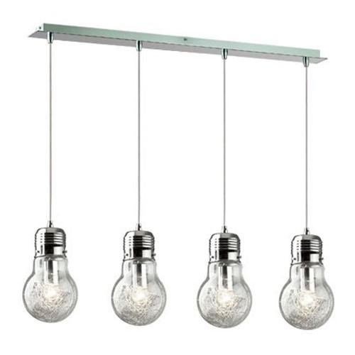 Beschrijving **Hanglamp Gloeilamp 4 lichts eettafel