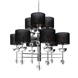 Hanglamp Kroon Organza chroom, zwart