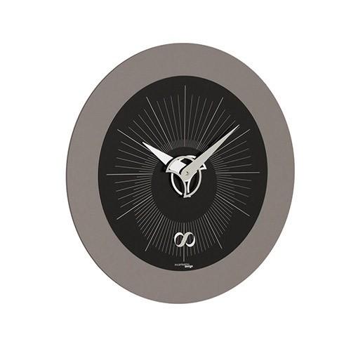 Moderne klok zwat grijs kantoor keuken straluma - Moderne klok ...