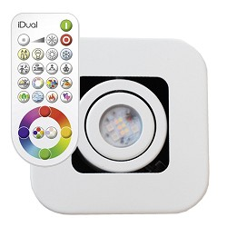 Idual LED spot Quarto wit incl. remote