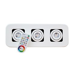 LED spot Idual Quarto wit incl. remote