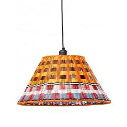 *Hanglamp retro, oranje, blauw, rood,wit