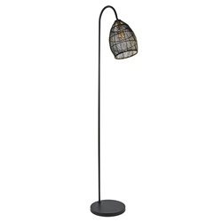 Vloerlamp Meya mat zwart/goud Light and Living