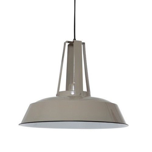 Industriele hanglamp inez taupe straluma - Gang grijze taupe ...