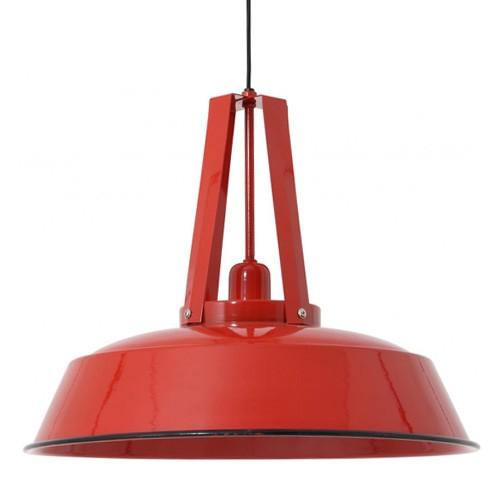 Industriele Hanglamp Keuken : Hanglamp Inez rood industrieel keuken Straluma