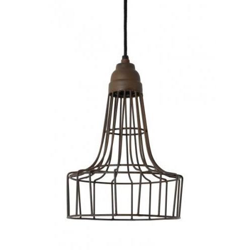 Industriele Hanglamp Keuken : Industriele hanglamp Babette roestbruin Straluma