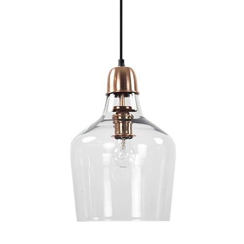 Keuken Hanglamp : Glazen hanglamp koper Sage hal-keuken Straluma