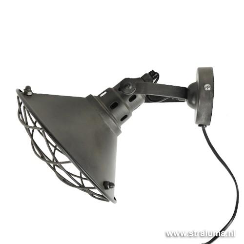 Stoere industriele wandlamp verstelbaar straluma for Stoere industriele wandlampen