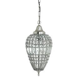 Peervormige hanglamp Charlene kristal