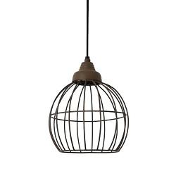 Landelijke hanglamp Benthe roestbruin
