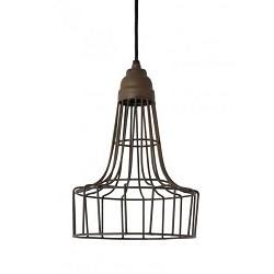 Industriele hanglamp Babette roestbruin