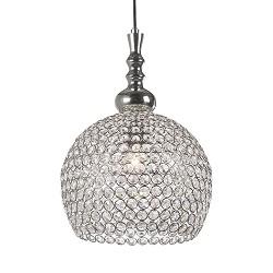 Romantische hanglamp kristal Elmi wc-hal
