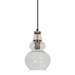 **Trendy hanglamp Cile glas koper keuken