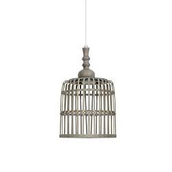 Landelijke hanglamp Malakka mand hout