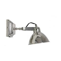 Klassieke zilveren wandlamp verstelbaar