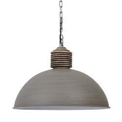 Betonlook hanglamp Avery met hout