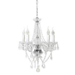 Klassieke glazen kroonluchter-hanglamp