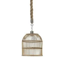 Landelijke touw hanglamp kooi 26 cm
