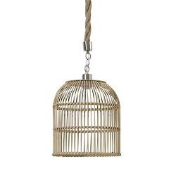 Landelijke hanglamp riet/touw keuken
