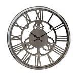 Mooie trendy zilveren klok Sign