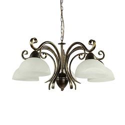 Wandlamp klassiek zwart goud met glas straluma for Klassieke hanglamp