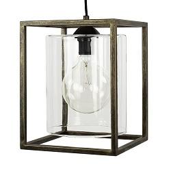 Strak klassieke hanglamp lantaarn frame