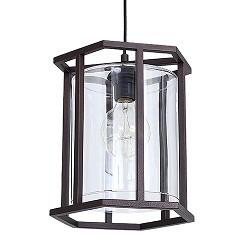 Landelijke lantaarn bruin frame met glas