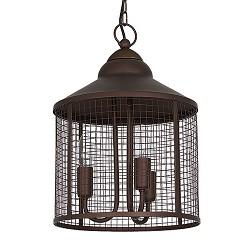 *Landelijke hanglamp-lantaarn eettafel