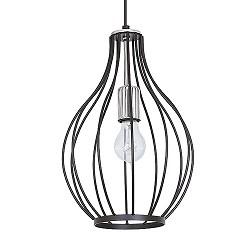 *Draad hanglamp zwart chroom slaapkamer
