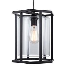 Zwarte lantaarn frame 6-kant keuken, hal