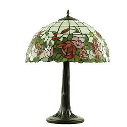 *Tafellamp Tiffany, brons glas in lood