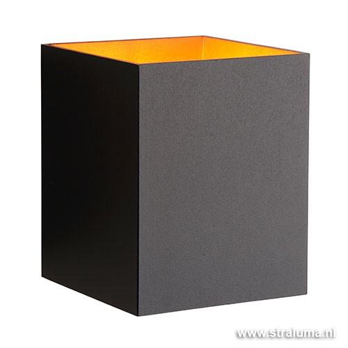 Woonkamer Wandlamp : Beschrijving Zwarte wandlamp Xera vierkant ...